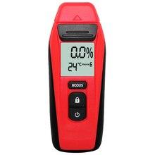 Портативный цифровой измеритель влажности древесины с двумя контактами тестер горячей влажности 0,5 процентов точность гигрометр детектор влажности древесины
