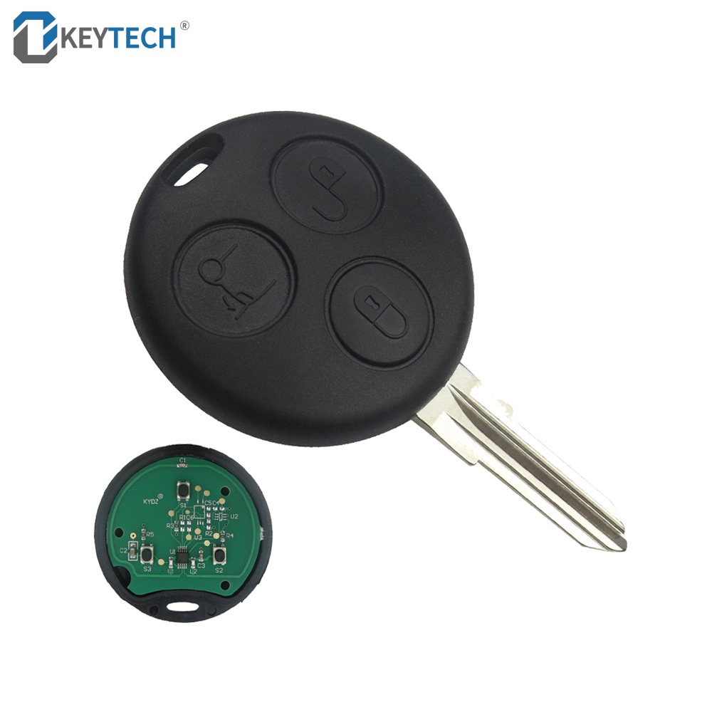 OkeyTech 3 Buttons 433Mhz Flip Folding Remote Car Key For Mercedes Benz <font><b>Smart</b></font> <font><b>Fortwo</b></font> <font><b>450</b></font> Forfour 451 Roadstar Auto Car Key Case image
