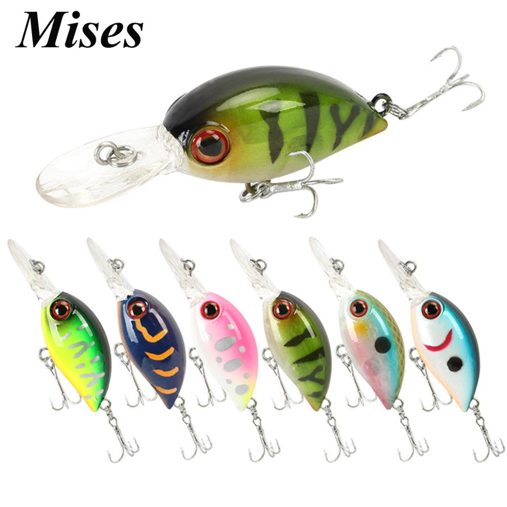 Mises 4cm 3.6g Seven Colors Floating Bionic Crank Little Fatty Lure Artificial Plastic Hard Bait Fishing Lure Fishing Tackles