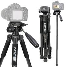 Q222 Pro Professional Photographic Portable Aluminium Alloy Tripod Kit Monopod Stand Ball head For Travel DSLR Camera
