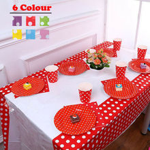 Plastic Table Cover Cloth Wipe Clean Party Tablecloth Rectangle Cloths Disposable