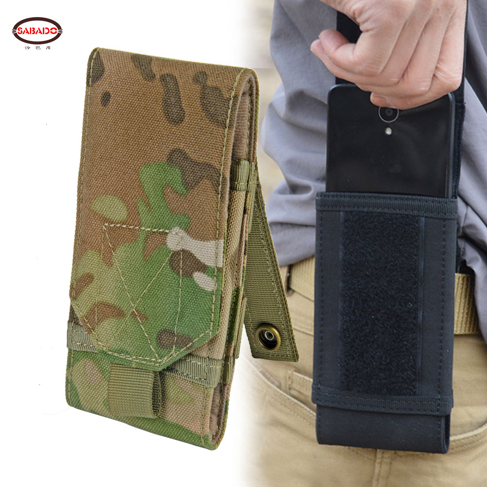 Outdoor Camouflage Bag Tactical Army Phone Case Holder Sport Waist Belt Waterproof Nylon EDC Hunting Camo Molle Backpack Vest