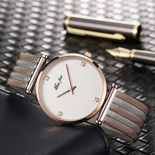 Miss Fox Women Watches Mesh Belt 2019 Ladies Watch Rose Gold Top Brand Luxury Women's Watches Ladies Watch Clock Montre Femme