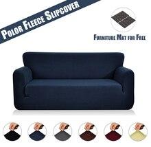 Sofa Cover Polyester Spandex Stretch Furniture Polar Fleece Elastic Fabric Set for Living Room  D20