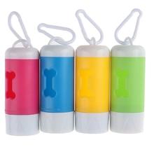 Dispenser Dog-Poop-Bags Pet-Leash Led-Light Not-Includes-Battery Fits-For