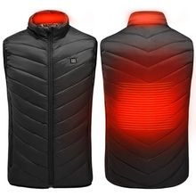 Outdoor Men Electric Heated Vest USB Heating Sleeveless Vest Winter Thermal Coat