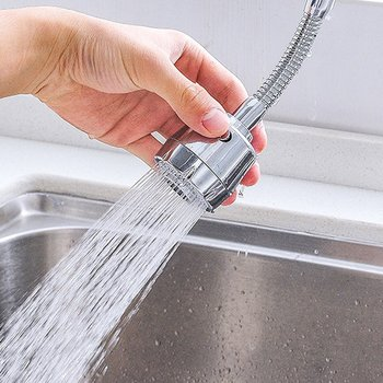 цена на 360 Degree Water Faucet Bubbler Kitchen Faucet Saving Tap Water Saving Shower Head Filter Nozzle Water Saving Shower Spray