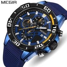 MEGIR שעון למעלה מותג יוקרה אופנה אנלוגי קוורץ ספורט גברים שעונים Mens עמיד למים עסקי תאריך שעון יד Relogio Masculino