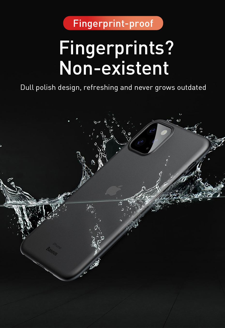 Baseus 0.4mm Super Thin Phone Case For iPhone 11 Case Coque 11 Pro Back Cover PP Coque Fundas for iPhone 11 Pro MAX Case Capa XS