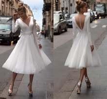 Женское сатиновое платье it's yiiya белое свадебное до середины