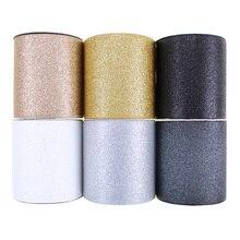 """10y/Lot 3 """"75mm חדש Colorfu Sparkle מוצק נצנצים מודפס מבהיקי סרט לשיער קשתות"""