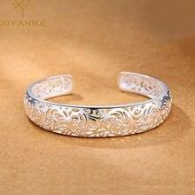 XIYANIKE – Bracelet en argent Sterling 925 pour femme, bijou géométrique ajouré, Style National, idéal pour cadeau de mariage