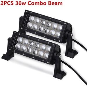 Image 1 - LED Work Light Bars 36w 18w Tractor Fog Offroad Hight Spot Flood Wide Beam Working headlight lamp 12V 24V For Auto Car ATV