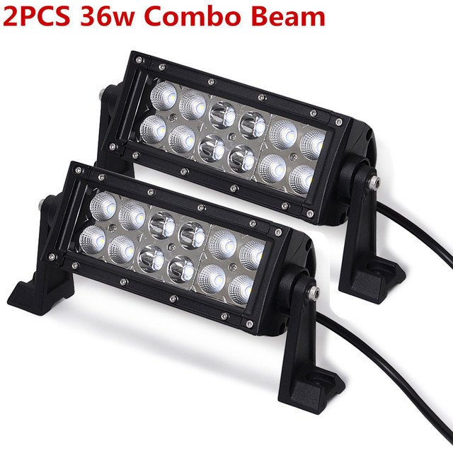 LED Work Light Bars 36w 18w Tractor Fog Offroad Hight Spot Flood Wide Beam Working headlight lamp 12V 24V For Auto Car ATV