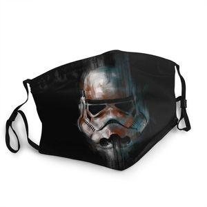 Маска для лица Stormtrooper Star Wars, неодноразовая маска для рта, антидымчатая противопылезащитная маска, респиратор для рта