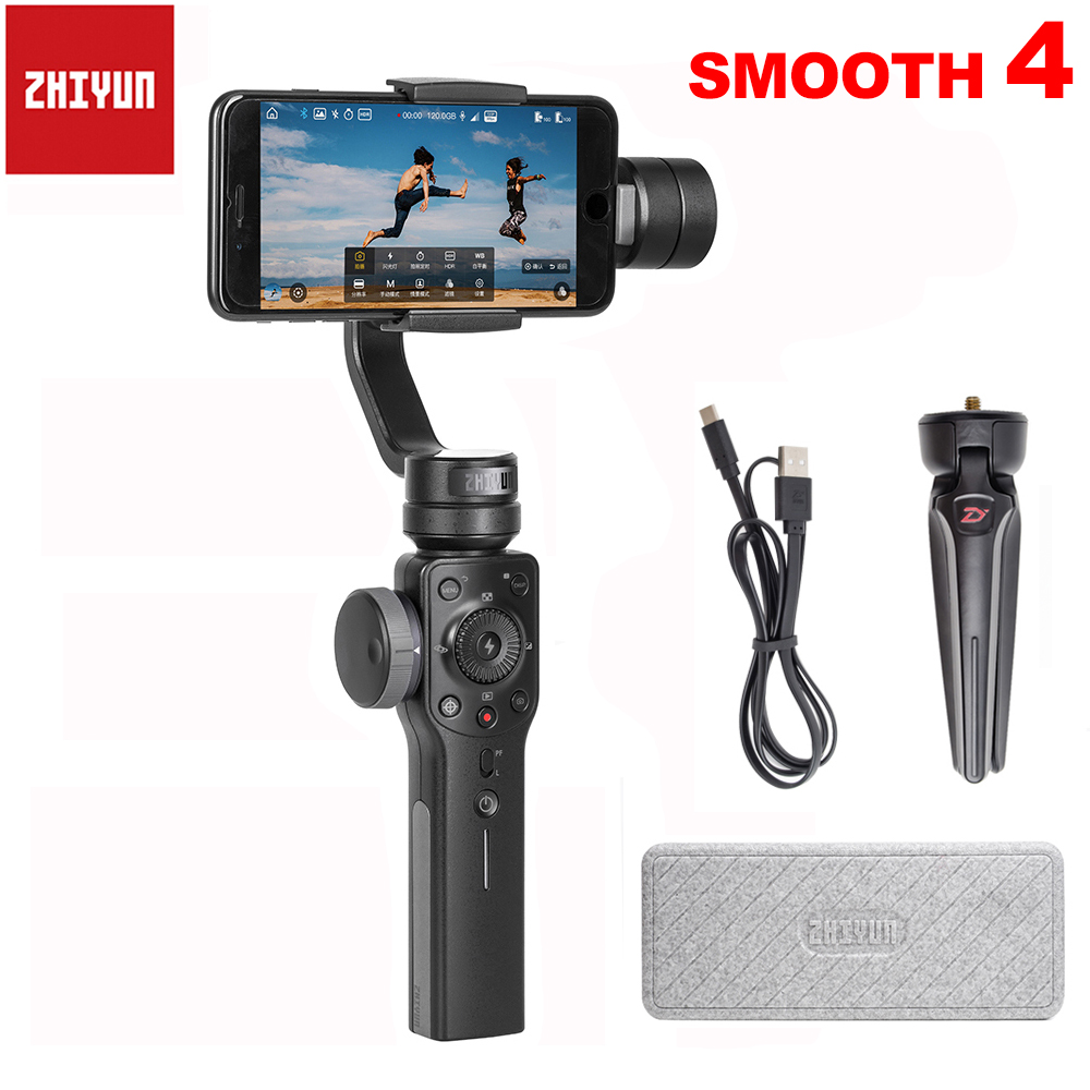 Zhiyun Smooth 4 Q 3 Axis Handheld Smartphone Gimbal Stabilizer for iPhone X 8Plus 8 7P