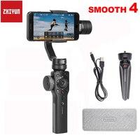 Zhiyun Smooth 4 Q 3 Axis Handheld Smartphone Gimbal Stabilizer for iPhone X 8Plus 8 7P 7 6S Samsung S9 S8 S7 PK Feiyu Vimble 2