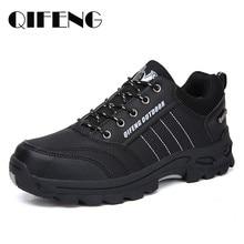 Chaussures d'escalade classiques chaudes en cuir noir pour hommes et femmes, baskets de course en maille, populaires pour l'hiver, chaussures décontractées
