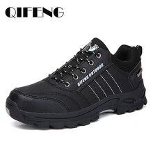Zapatos informales populares para hombre, calzado para escalar, clásico, de cuero negro, Zapatillas de malla para verano, calzado para correr al aire libre
