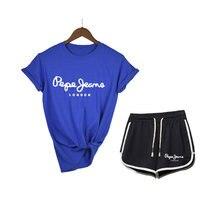 Summer Club Outfits Suits 2 Piece Set Women White Black T Shirt Two Piece Biker Shorts Set Ladies Tracksuit Matching Sets