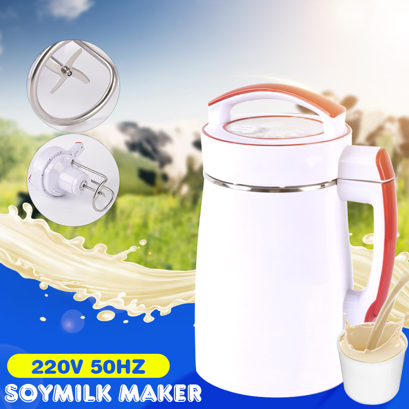 2L Multifunction Soybean Hot Soymilk Machine 800W 220V Fruit Juice Soy Milk Cereal Soup Maker Filter-free Stir Rice Paste Maker