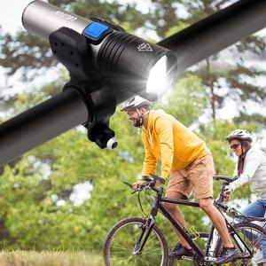 Image 3 - USB Rechargeable bicycle light LED Flashlight ZOOM Torch Zoomable Flashlight Camping Bicycle lamp + With Built in battery