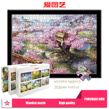 Sim Wooden Jigsaw Puzzle 1000 Pieces Cartoon Pattern Pictures Adult Puzzles Kids Jigsaw Educational Puzzle Toy for Kids/Adults