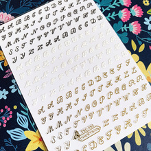 TSC Series LETTER TSC-153 English alphabet 3D Nail Art Sticker Decal Template DIY Tool Decoration