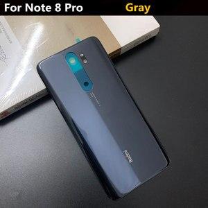 Image 4 - Originele Glas Telefoon Behuizing Case Batterij Cover Voor Xiaomi Redmi Note 8 Pro Onderdelen Batterij Back Cover Deur Gratis verzending