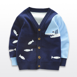 Spring Autumn Boys Cardigan Knitted Children Sweaters Boy Leisure Knit Outwear