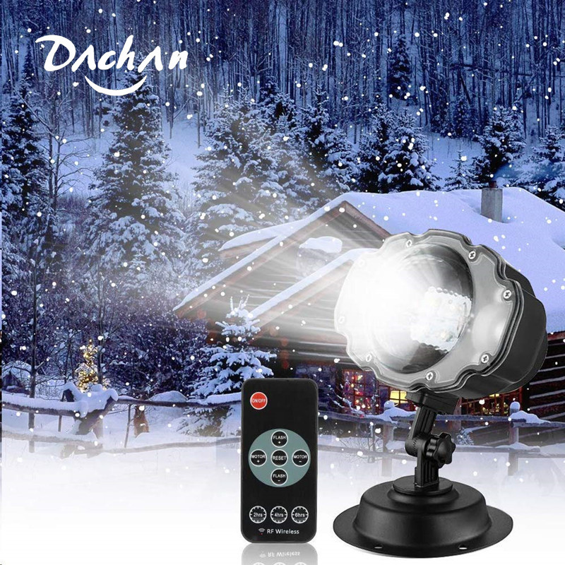 Snowfall LED Light Projector,Sanwsmo Christmas Snow Light,Snow Falling Projector Lamp Dynamic Snow Effect Spotlight For Garden
