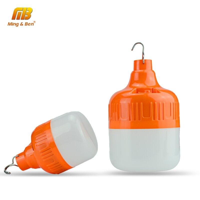 Lumière de secours Rechargeable Portable 20W 30W 40W 50W blanc 3 Modes de travail DC5V 6-8 heures LED lampe de Camping lumière de sauvetage en plein air