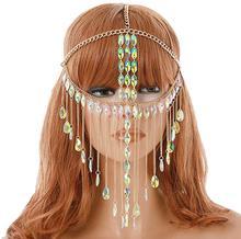 Маска мяч для женщин Бриллиантовая маска с цепочкой для лица, ювелирные изделия для женщин