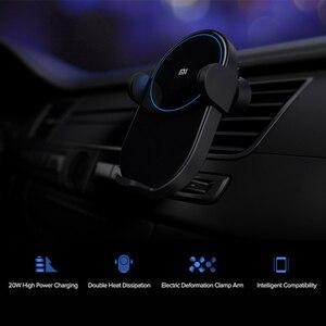 Image 4 - Xiaomi cargador de coche inalámbrico para teléfono, con Sensor infrarrojo inteligente, soporte para teléfono móvil y carga flash de 20W y alta potencia