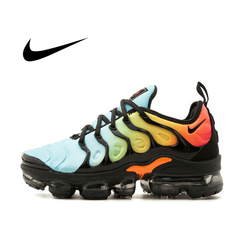 Original Authentic Nike Air Vapormax Plus Men's Sneaker Cozy Shock Absorption Wear-resistant Gradient Color Running Shoes AO4550