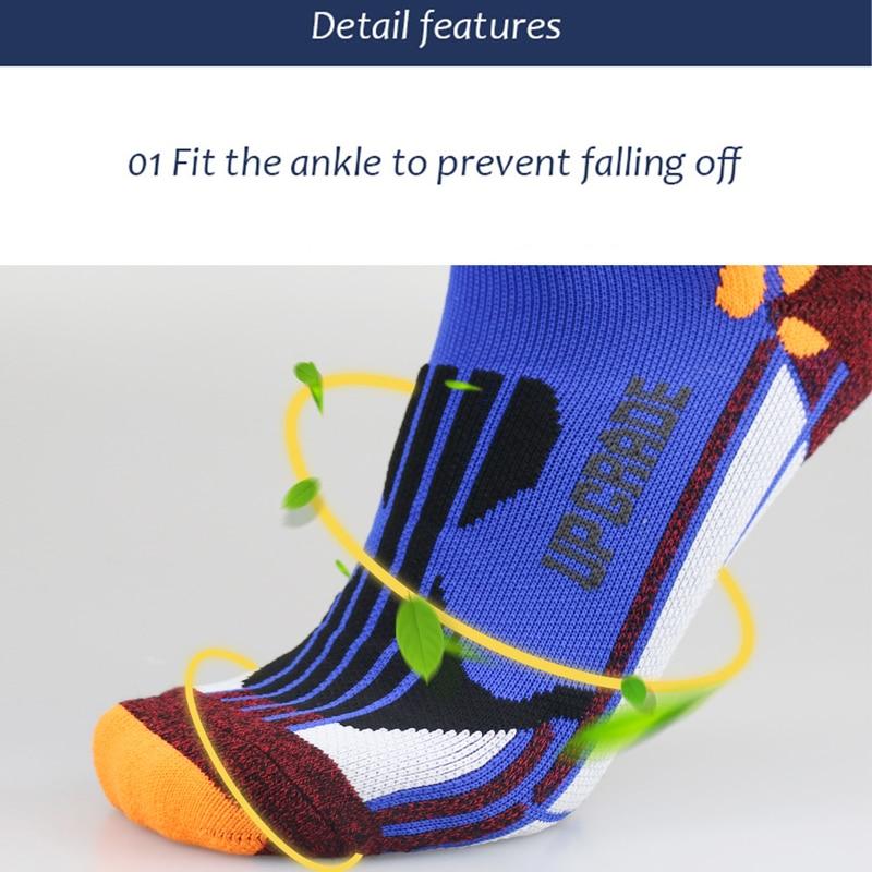running - UGUPGRADE Coolmax Running Cotton Compression Socks Outdoor Cycling Breathable Basketball Ski Socks thermal socks