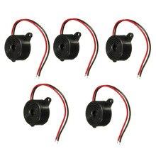 Поступление прочный 3-24 В пьезоэлектронный Зуммер сигнал тревоги 95 дБ непрерывный звуковой сигнал для автомобильного фургона Arduino (комплект...