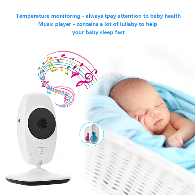 LOOZYKIT Color LCD Baby Monitor Wireless Digital Video Display Two-Way Voice intercom Night Vision Temperature Sensing Lullaby 3