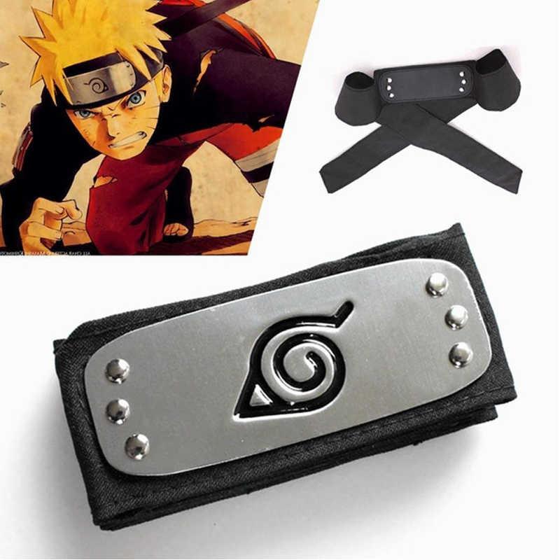 Anime Naruto pałąk wioska liść Logo Konoha Uchiha Itachi Kakashi Akatsuki przebranie na karnawał akcesoria
