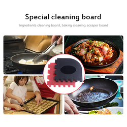 Grattoirs durables de casserole de gril de 2 pièces avec le support de poignée chaude de Silicone
