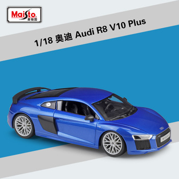 Maisto 1:18 Audi R8 V10 Plus sports car simulation alloy car model collection gift toy image