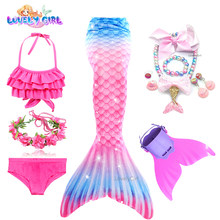 Mermaid Tail Bikini Dress for Girls Mermaid Costume Beach Dress Mermaid Princess Pool Party Girls Costume Gifts for Birthday