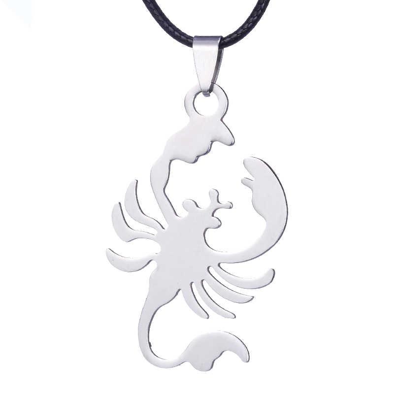 ZRM bijoux en acier inoxydable collier couleur noire breloque Scorpion pendentif pour hommes femmes cadeaux