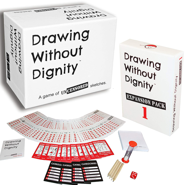 Drawing Without Dignity A NEW Adult Party Card Game of Uncensored Sketches Board Groups Families Friends Parties Gathering Gift
