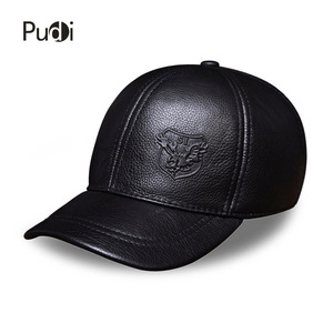 Image 2 - HL125 Spring autumn genuine leather baseball cap men brand new warm real cow leather caps hats