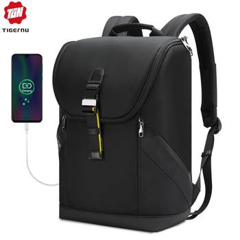 Mochila impermeable para hombre Tigernu 2020, mochila para portátil de alta calidad de 15,6 pulgadas, mochila de moda Kroean, bolso para adolescentes, Mochilas masculinas