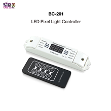 BC-201 LED Pixel Light Controller Include Remote Controller Small Size Powerful Function 6 IC Series RGB/RGBW LED Strip BINCOLOR(China)