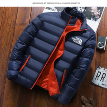 2021 winter men's wear, windproof thick coat, high quality leisure coat, with solid color lapel, fashionable men's coat