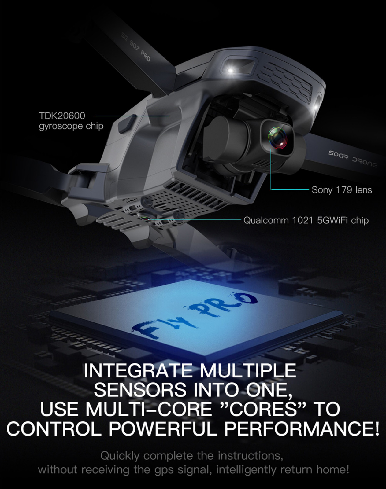 H2798cdee86f244e1a7846e66a077719a4 - 2020 New Sg907 Pro 5g Wifi Drone 2-axis Gimbal 4k Camera Wifi Gps Rc Drone Toy Rc Four-axis Professional Folding Camera Drones