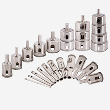 купить 25pcs/set Diamond Hole Drill Ceramic Porcelain Marble 3-60mm Hole Saw Drill Set Drilling Core Bit дешево